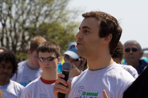 Matt Nespoli speaking at the 2010 WfW Walk for Water